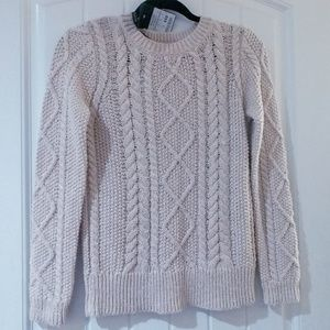 Massimo Dutti Cable Knit cream sweater